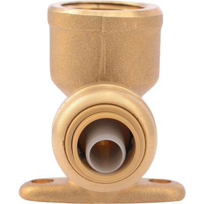 "SharkBite® U332LF Lead-Free Brass Push-to-Connect Drop-Ear Elbow - 3/8"" x 1/2"" FPT"