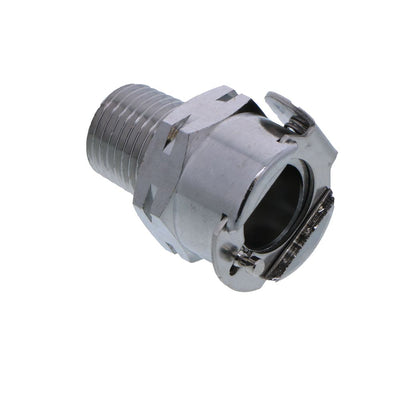 LCD10004BSPTV Valved Male Thread Coupling Body 1/4 BSPT - Viton