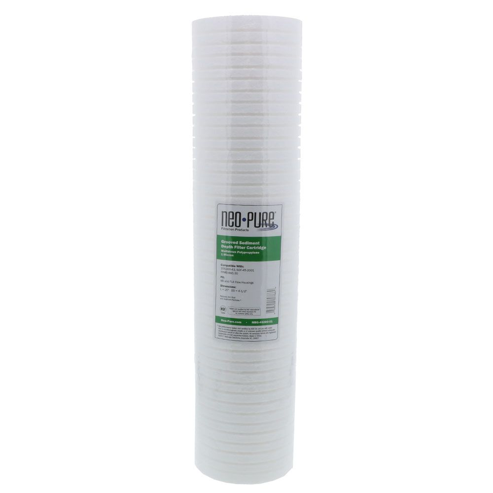 5 mic Single Neo-Pure MBG-25200-05 2-1//2 x 20 Sediment Depth Grooved Filter