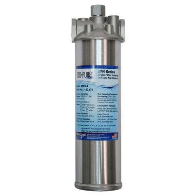 "Neo-Pure SFBH1-6 Single Filter Housing with Bolt and Nut Closure - 3/4"" FPT"