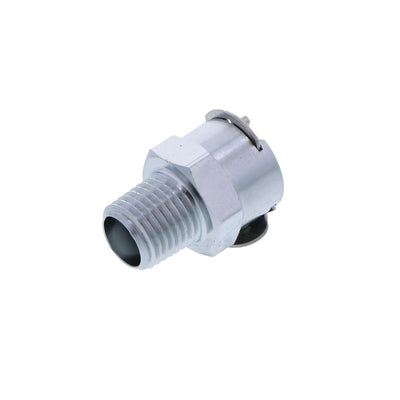 LCD10004V Valved Male Thread Coupling Body 1/4 NPT FKM (Viton) O-ring