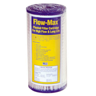 "10"" × 4-1/2"" BB Flow-Max Pleated - 1 mic Absolute [Cyst] Filter"