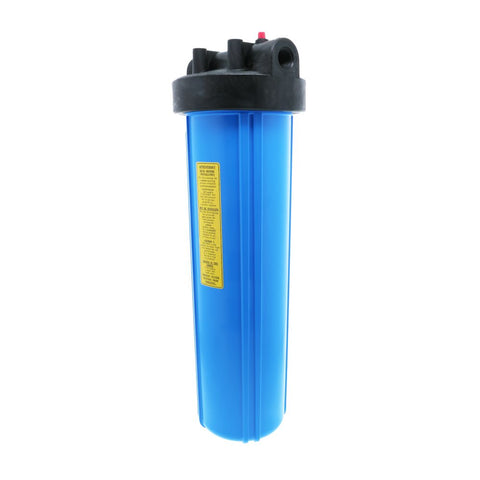 "Watts Flowmatic 20"" Full Flow Water Filter Housing Black/Blue W/ PR"