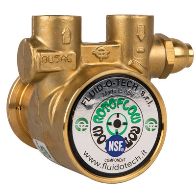 "Fluid-o-Tech Lead-Free Brass Rotary Vane Pump 75 GPH - 1/2"" NPT"