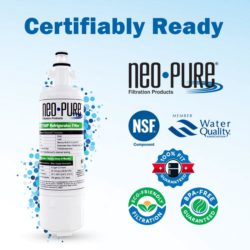 LG LT700P Compatible Replacement Fridge Filter by Neo-Pure on