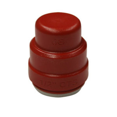 John Guest Color Coded End Cap Red - 1/2 CTS Test Cap