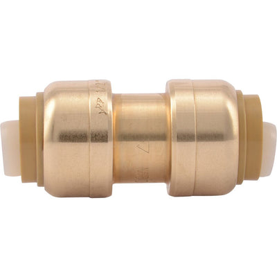 "SharkBite® U008LF Lead-Free Brass Push-to-Connect Coupling - 1/2"" x 1/2"""