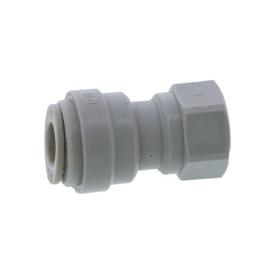 "DMfit Female Faucet/Refrigerator Connector - 5/16"" Push-in x 7/16-24 UNS"