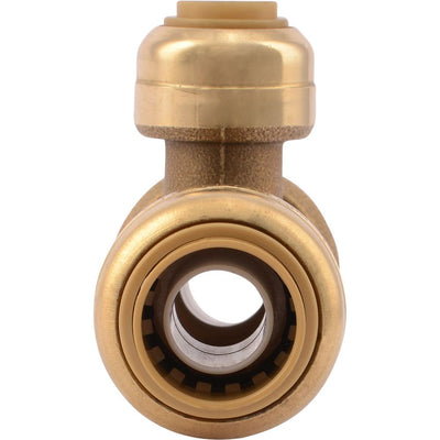 "SharkBite® U359LF Lead-Free Brass Push-to-Connect Reducing Tee - 1/2"" x 1/2"" x 1/4"""