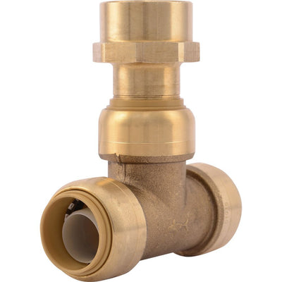 "SharkBite® U462LF Lead-Free Brass Push-to-Connect Female Center Tee - 3/4"" x 3/4"" x 3/4"" FPT"
