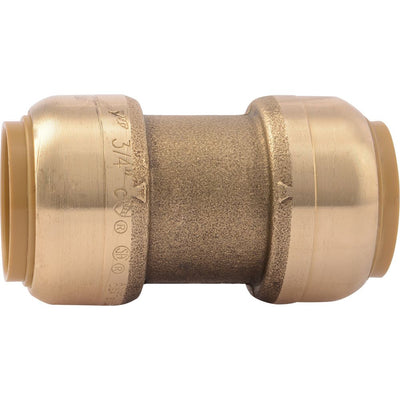 "SharkBite® U016LF Lead-Free Brass Push-to-Connect Coupling - 3/4"" x 3/4"""