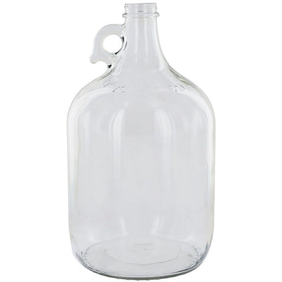 Clear 1 Gallon Glass Beer Growler or Water Bottle Without Cap - Single