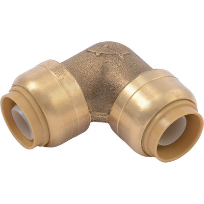 "SharkBite® U248LF Lead-Free Brass Push-to-Connect 90-Degree Elbow - 1/2"" x 1/2"""