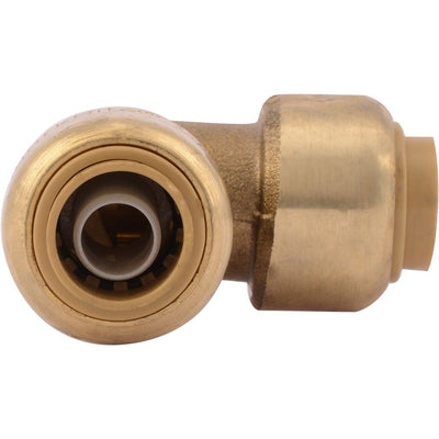 "SharkBite® U246LF Lead-Free Brass Push-to-Connect 90-Degree Elbow - 3/8"" x 3/8"""