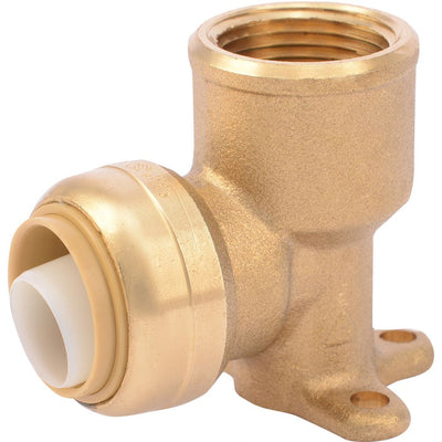 "SharkBite® U340LF Lead-Free Brass Push-to-Connect Drop-Ear Elbow - 3/4"" x 3/4"" FPT"