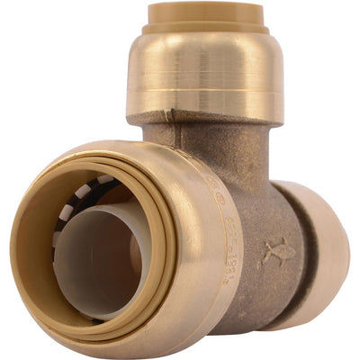 "SharkBite® U454LF Lead-Free Brass Push-to-Connect Reducing Tee - 3/4"" x 1/2"" x 1/2"""