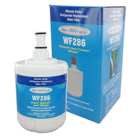 Aqua Fresh WF286 Whirlpool KitchenAid Deluxe Compatible Filter for 8171413 & 8171414