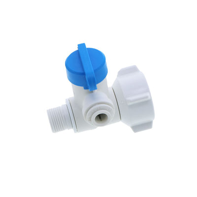 John Guest Plastic Angle Stop Adapter Valve Lead-Free - 3/8 x 1/2 x 1/4