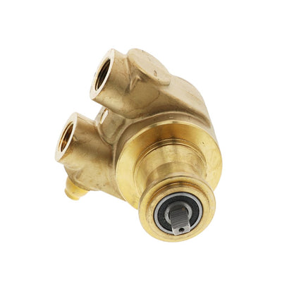 "Fluid-o-Tech Lead Free Brass Rotary Vane Pump with Brass Key 190 gph 1/2"" NPT"