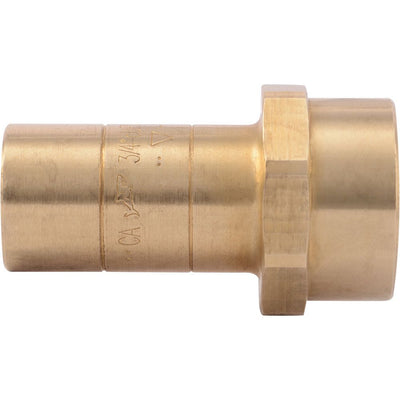 "SharkBite® U766LF Lead-Free Brass Push-to-Connect Threaded Fitting Adapter - 3/4"" CTS x 3/4"" FPT"