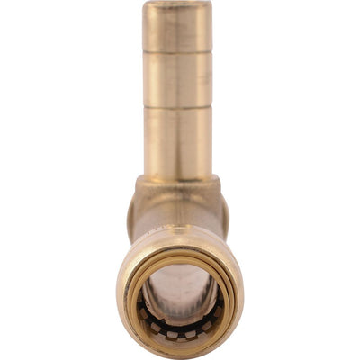 "SharkBite® U4482LF Lead-Free Brass Push-to-Connect Service SLIP Tee - 1/2"" x 1/2"" x 1/2"" CTS"