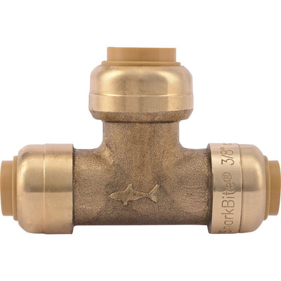 "SharkBite® U364LF Lead-Free Brass Push-to-Connect Reducing Tee - 3/8"" x 3/8"" x 1/2"""