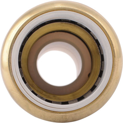 "SharkBite® UIP4016 Push-to-Connect Brass PVC Transition Coupling - 3/4"" PVC x 3/4"" CTS"