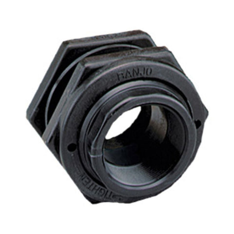 "Banjo 1.25"" Polypropylene Bulkhead Tank Fitting with EPDM Gaskets"