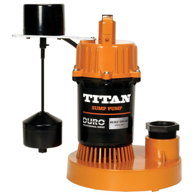 Titan Basement Submersible Sump Pump 1/2 HP - Vertical Float