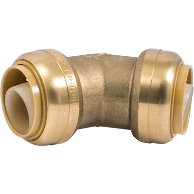 "SharkBite® U660LF Lead-Free Brass Push-to-Connect 45-Degree Elbow - 1"" x 1"""