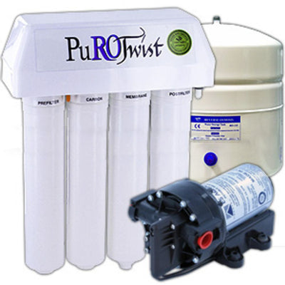 PuROTwist 4000 Reverse Osmosis System - With Booster Pump and Non-Air Gap Faucet