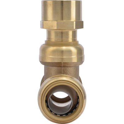 "SharkBite® U464LF Lead-Free Brass Push-to-Connect Female Center Tee - 1"" x 1"" x 1"" FPT"
