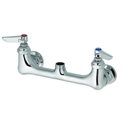"T&S Brass B-0230-LN Wall Mount Swivel Base Mixing Faucet, 8"" Centers, 1/2 IPS Flanged Female, Less Nozzel"
