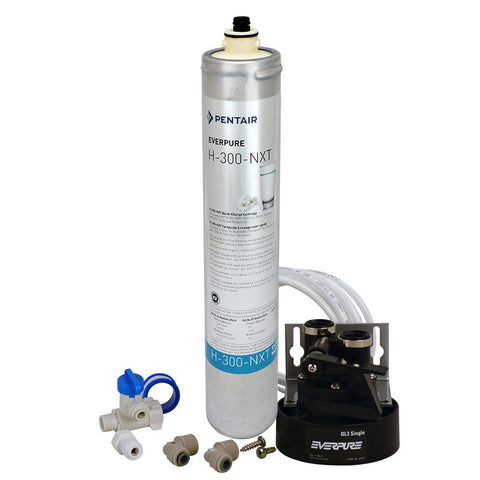 Everpure H-300-NXT Drinking Water Filter System - H300-NXT-System + 502 Contemporary Faucet BN