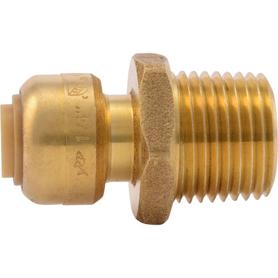 "SharkBite® U110LF Lead-Free Brass Push-to-Connect Male Adapter - 1/4"" x 1/2"" MPT"
