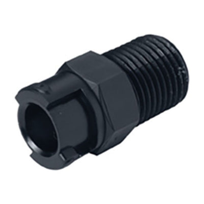 SMPTD02BLK Valved Male Thread Black Coupling Body 1/8 NPT Black