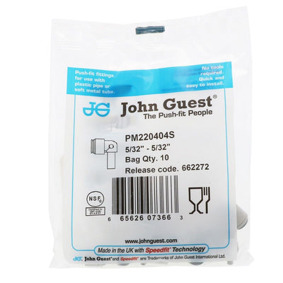 John Guest Stem Elbow Connector - 5/32 Stem x 5/32 Tube