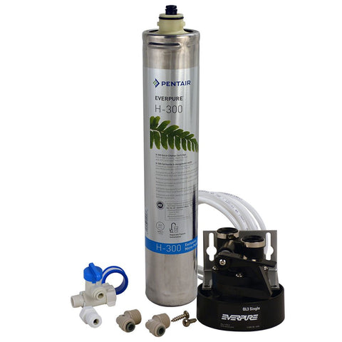 Everpure H-300 Drinking Water Filter System - H300 System + 502 Contemporary Faucet BN