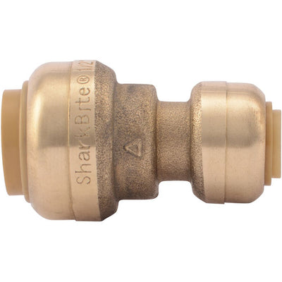 "SharkBite® U050LF Lead-Free Brass Push-to-Connect Reducer Coupling - 1/4"" x 1/2"""
