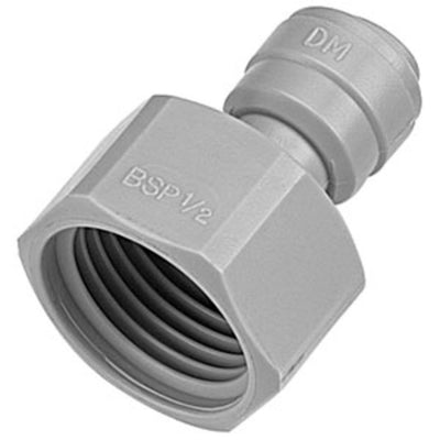 "DMfit Female BSPP Connector Cone Type - 1/2"" Push-in x 5/8 BSP(P)"