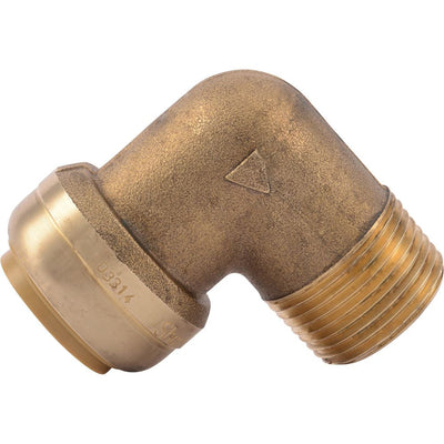 "SharkBite® U286LF Lead-Free Brass Push-to-Connect Male Elbow - 3/4"" x 3/4"" MPT"