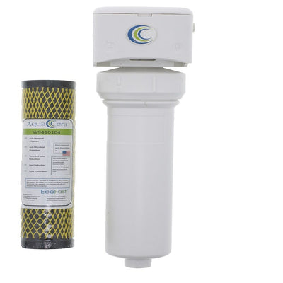 AquaCera EcoFast Quick Change Water Filter System With Install Kit