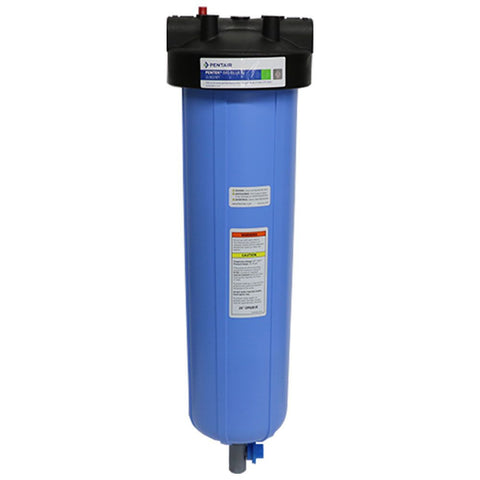 "Pentek 20"" Big Blue Water Filter Housing with PR and 3/8"" Drain Valve"