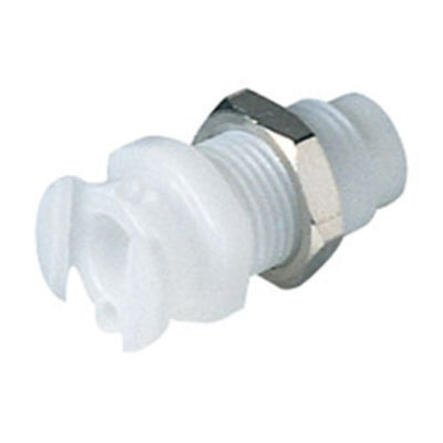Multi-Mount Non-Valved Female Thread Coupling Body - 10-32 UNF Acetal - Bag of 50