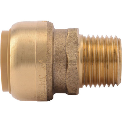 "SharkBite® U138LF Lead-Free Brass Push-to-Connect Male Adapter - 3/4"" x 1/2"" MPT Bullnose"