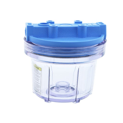 "Pentek 5"" Slim Line Water Filter Housing Blue/Clear No PR"