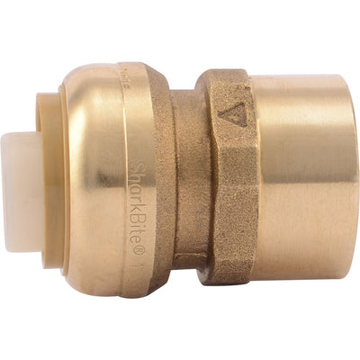 "SharkBite® U094LF Lead-Free Brass Push-to-Connect Female Adapter - 1"" x 1"" FPT"