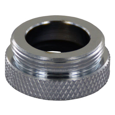"Faucet Aerator Adapter Full Flow FPT 3/8""-18 x MPT 55/64""-27 Chrome"