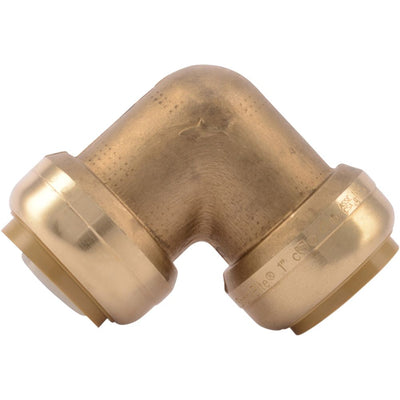 "SharkBite® U260LF Lead-Free Brass Push-to-Connect 90-Degree Elbow - 1"" x 1"""