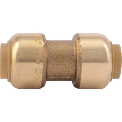 "SharkBite® U006LF Lead-Free Brass Push-to-Connect Coupling - 3/8"" x 3/8"""